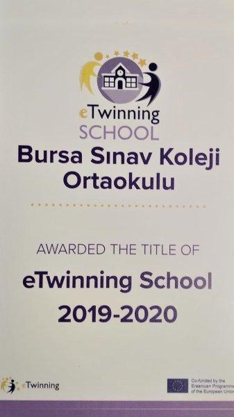 Bursa Sınav Okulları'na AVRUPA KALİTE ETİKETİ ödülü!